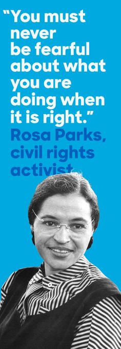 On December 1, 1955, Rosa Parks' act of rebellion on a Montgomery, Alabama bus sparked a national movement for equal rights. Parks' impact on the civil rights movement strikes deeper than just that day on the bus—she initiated the Montgomery Bus Boycott, led by Martin Luther King, Jr., fought for fair housing in Detroit, and called for the release of political prisoners. Today, her legacy inspires a new generation of civil rights advocates.