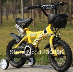 Kids Bike 16 Inch Children Bicycle Hard Frame Aluminum Alloy Rear Drum Brake #KidsBike