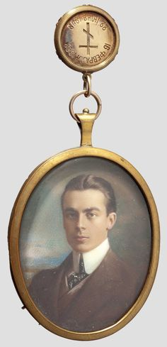 Minature of Nikolai Youssoupov elder son of General Prince Felix and Zenaida he was shot dead in a duel in August 1908 age 25