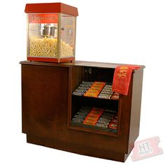 In home theater concession stand. Good with a little fridge/freezer and a drink dispenser.