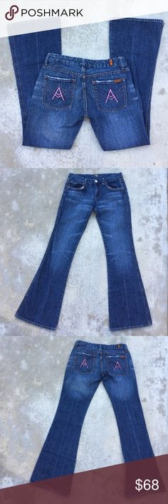 7 for All Mankind pink A pocket jeans Gently worn , size 28 , 32 inch inseam 7 For All Mankind Jeans
