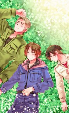Japan, Italy and Germany, Hetalia Paint It White