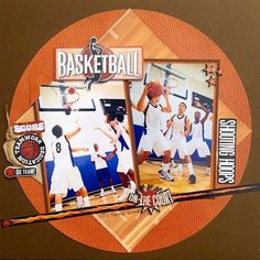 Reminisce basketball papers + embellishments #scrapbooking