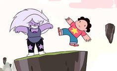 omg i was rewatching Giant Woman and when steven fell off one of those floating rocks they used that one character model from Gem Glow (not criticizing, just thought the way he was drawn that time was funny, and it's kinda cool they did it again)