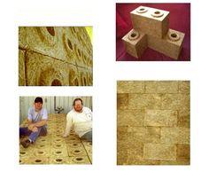 Hay as building blocks