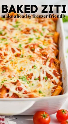 This Baked Ziti with Sausage is so comforting and delicious. My kids gobbled this up and I'm sure it will become a family favorite your house too! Egg Recipes For Breakfast, Healthy Dinner Recipes, Appetizer Recipes, Great Recipes, Vegetarian Recipes, Baked Ziti With Ricotta, Baked Ziti With Sausage, Italian Recipes, Beef Recipes