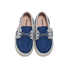 Boys lace up suede shoe in blue