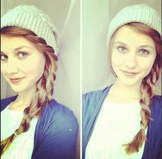 Twisted hair with a beanie