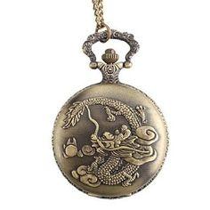 Men's Dragon Alloy Analog Quartz Pocket Watch (Bronze)