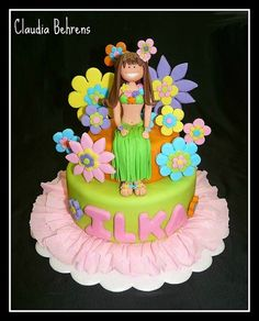 hawaian girl cake - claudia behrens by Claudia Behrens ~ Cakes, via Flickr