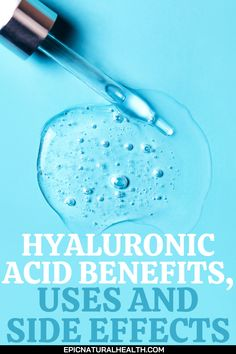 Hyaluronic acid – it sounds a bit like something out of a chemistry class, and actually, trying to describe exactly what it is can get a bit scientific. Naturally produced by your body, hyaluronic acid is a sort of clear substance, gooey in texture. You'll find the majority of hyaluronic acid in your skin, as well as in your connective tissues and your eyes. It's essential for keeping important parts of your body moist and lubricated for optimum functioning. Natural Health Remedies, Herbal Remedies, Health And Beauty Tips, Health Tips, Health And Nutrition, Health And Wellness, Cure Diabetes Naturally, Keep Fit, Cool Diy Projects