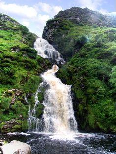 Eas a' Ranca Waterfall at Ardara, County Donegal, Ireland