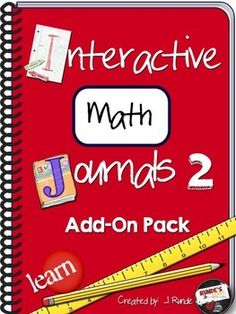 Interactive Math Journal 2 - brand new 2nd edition to my original Interactive Math Journal.  This edition contains 27 full lesson plans for new journal ideas, and an editable powerpoint version of all the templates included in the resource.$