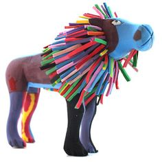 In an effort to not only clean up the coast but also provide jobs for locals, she formed a group to make awesome animal sculptures from recycled flip-flops found on the beach. Lion Medium, $49, now featured on Fab.