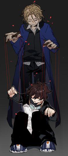 Puppet master King of Despair Anime Guys, Manga Anime, Anime Art, Blood Blockade Battlefront, Yuri, Anime Furry, Dark Anime, Blue Exorcist, Drawing Poses