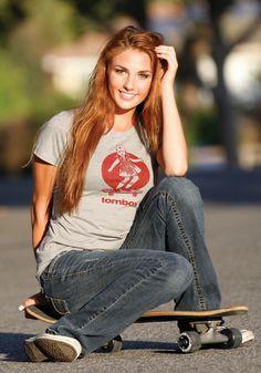 Longboard Skater Girl Tee