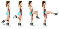 Flexão de joelho, quadril e extensão de joelho com tornozeleira