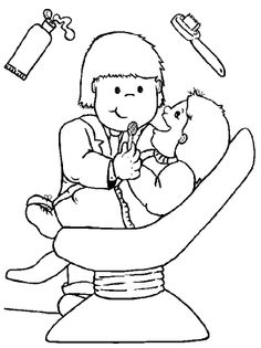 Dentist Check Meticulously Coloring Pages