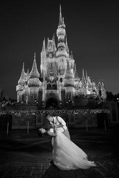 Cinderella Castle sparkles during the holiday season at Walt Disney World. Photo: Dawn, Disney Fine Art Photography