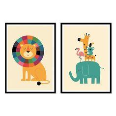 2 Art-Posters 30 x 40 cm pour enfants Duo bébé lion et Baby Kids, Baby Boy, Baby Room Art, Jungle Animals, Colorful Interiors, Decorative Items, Art Drawings, Kids Room, Nursery