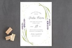 lavender frame Baby Shower Invitations by Erin Deegan at minted.com