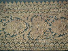 Antique Vintage Saree Ribbon Border Trim Banarsi ZARI Lace Sari Craft Blue   eBay