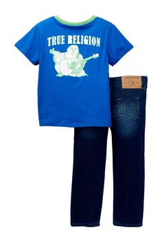 Buddha Tee Pant Set (Toddler Boys) by True Religion on @nordstrom_rack