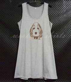 Long shirt Cute beagle prints racer back shirt by WorkoutShirts Cute Beagles, Tank Top Dress, Tank Tops, Trending Outfits, Shirt, Prints, Etsy, Dresses, Women