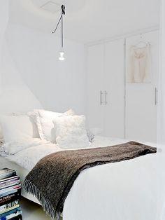 chambre en blanc
