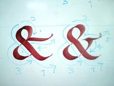 Ampersand how to in calligraphy.