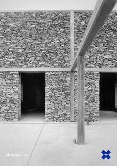 """181. Herzog & de Meuron /// Stone House /// Tavole, Italy /// 1988 OfHouses guest curated by Weltgebraus: """"The house has a closed/stable (""""Weltgebraus-resistant"""") part and a rather opened/ambiguous..."""