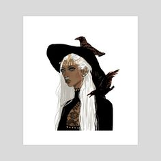 The white witch, an art print by muna abdirahman - inprnt Character Inspiration, Character Art, Character Design, Character Prompts, Under Your Spell, Halloween Series, Halloween Drawings, White Witch, Mystique