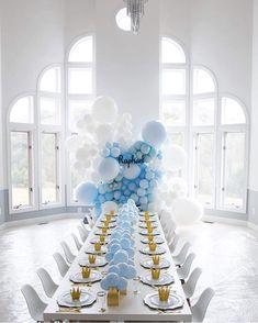 Deco Baby Shower, Baby Shower Balloons, Birthday Balloons, Baby Shower Parties, Baby Shower Themes, Baby Boy Shower, Birthday Parties, Baby Showers, Balloon Arch