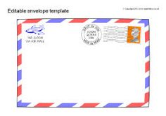 printable envelopes address practice templates for post office