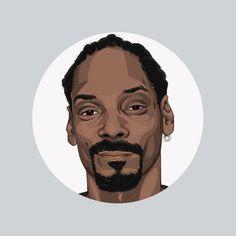 Hip-hop Heads Illustration - Snoop Dogg