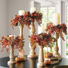 Candle Rings, Autumn Decorating, Fall Outdoor Decorating, Fall Decor Outdoor, Deco Floral, Deco Table, Fall Home Decor, Autumn Decor Living Room, Fall Decor For Porch