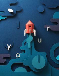 Create your Future - Paper Craft | Abduzeedo Design Inspiration
