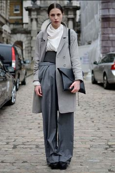States of gray in Paris #streetstyle