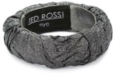 "TED ROSSI ""Femm e Fatale"" Medium Crushed Silk Bangle Bracelet Ted Rossi. $75.00. Custom crushed silk fabric wrapped bangle with leather interior. Ted Rossi label stitched into interior of bangle. Made in USA"