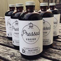 Package design. Letterpress cold brew coffee label #rexmake #graphicdesign…