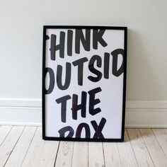 Think Outside the Box by Thomas Braestrup // I am SO buying this for my desk! #designinspiration
