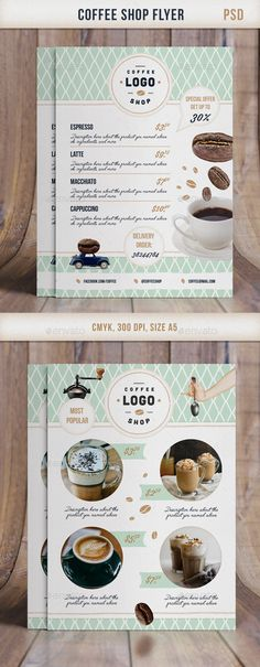 Flyer Retro CoffeeShop  #PSD #restaurant #food • Click here to download ! http://graphicriver.net/item/flyer-retro-coffeeshop/11562622?s_rank=124&ref=pxcr