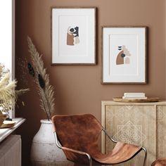 Brown Walls, Brown Bedroom Walls, Brown Bedrooms, Taupe Walls, Color Terracota, Mid Century Wall Art, Collor, New Wall, Modern Wall Art