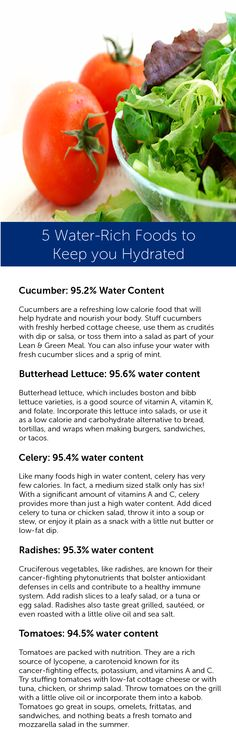 Foods can also supply some of your daily water needs. Enjoy these nutrient-rich foods along with your water throughout the day.