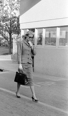 Grace Kelly on her last day on the Hollywood studio lot before her departure for Monaco, photo by Allan Grant for Life