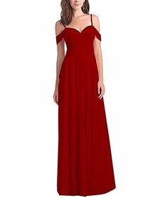 b81a2e1f42f Lilyla Women s Chiffon Off Shoulder Ruched Bridesmaid Dresses Long For