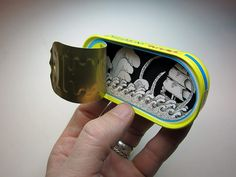 "Jim Doran / ""The diorama is in a Cento anchovies tin. It's kind of the opposite of an Altoids tin."""