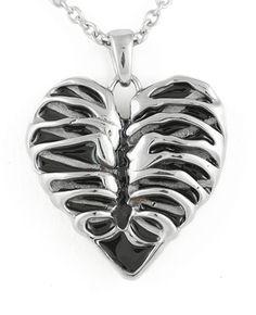 Controse Jewelry Heart Rib Cage Necklace  Skeleton Bones #ControseJewelry #pendantnecklaces