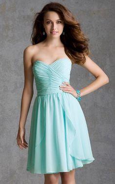 Decent Bridesmaid Dresses, A-line Knee-length Dresses, Knee-length A-line Pretty Sweetheart Dress