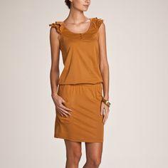 3 SUISSES - Korte jurk met mouwkapjes met stroken - 3 Suisses - Dames
